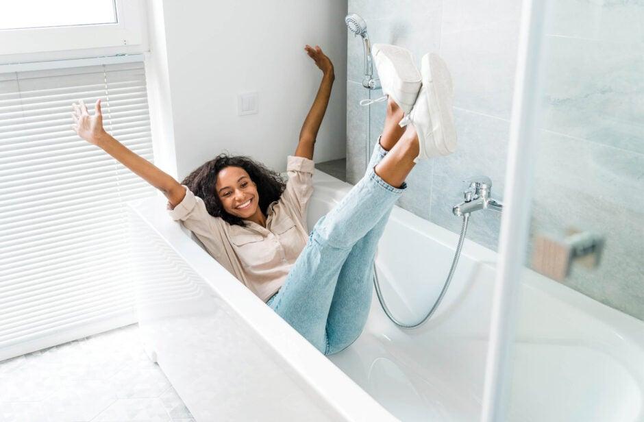 Woman in New Bath tub