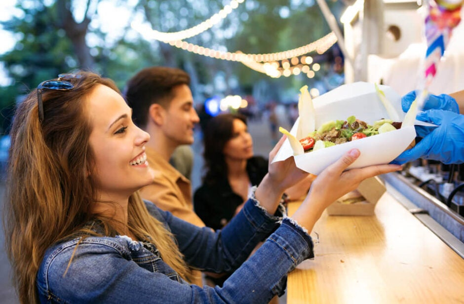 Young Adults at Food Truck