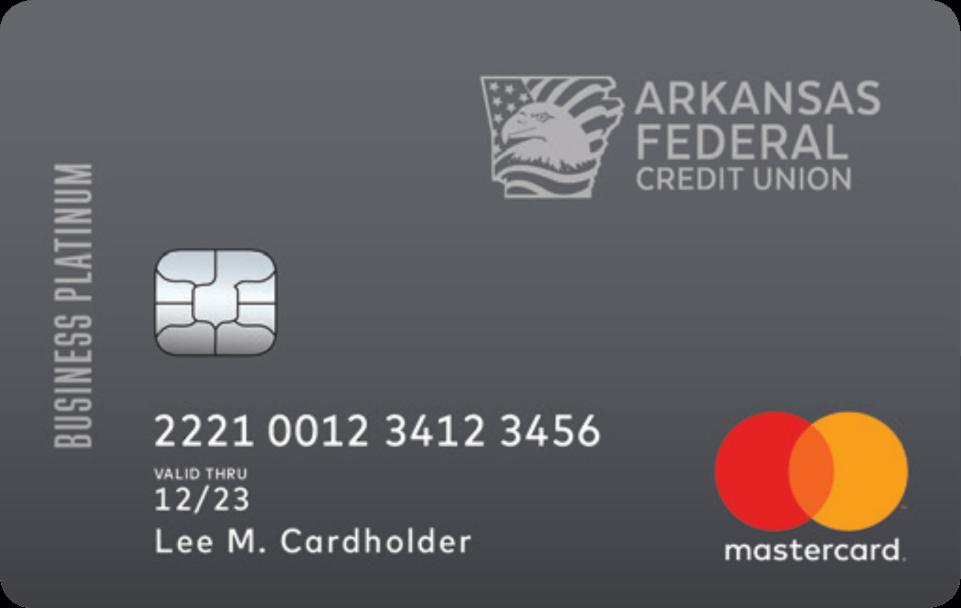 Arkansas Federal Credit Union Business Platinum Mastercard®