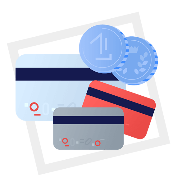 illustration of credit cards