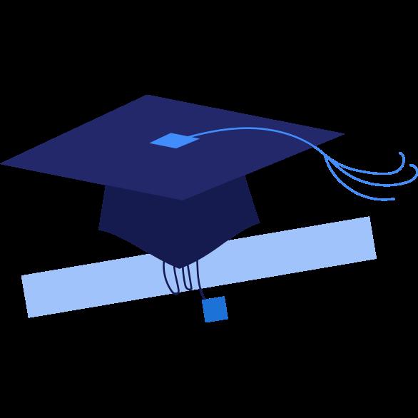 illustration of grad cap
